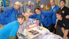 Milwaukee Wave Visit Children's Hospital