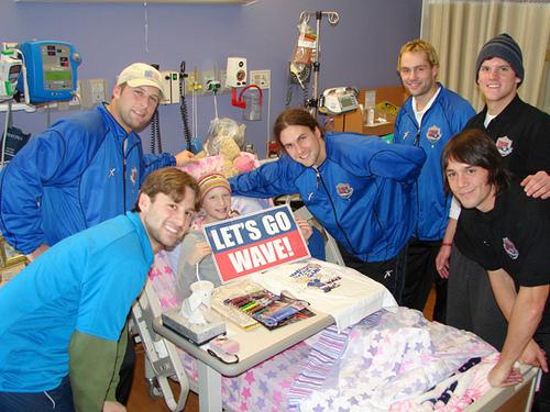 Milwaukee Wave Visit Children's Hospital