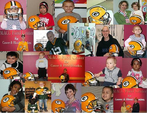 2011 MACC Fund Kids Enjoy Aaron Rodgers Helmet