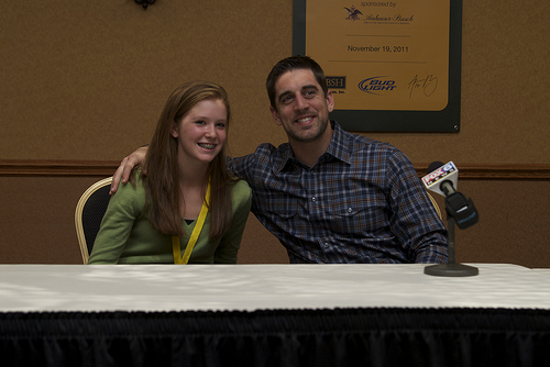 2011 Pack Lunch With Aaron Rodgers