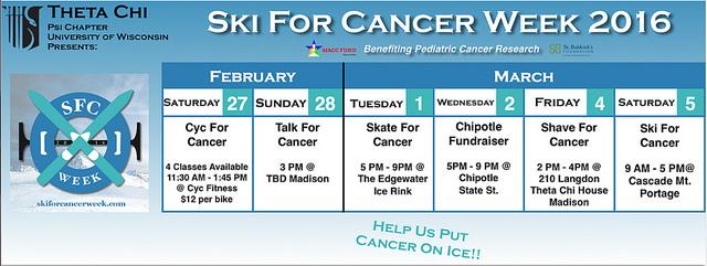 ski for cancer schedule