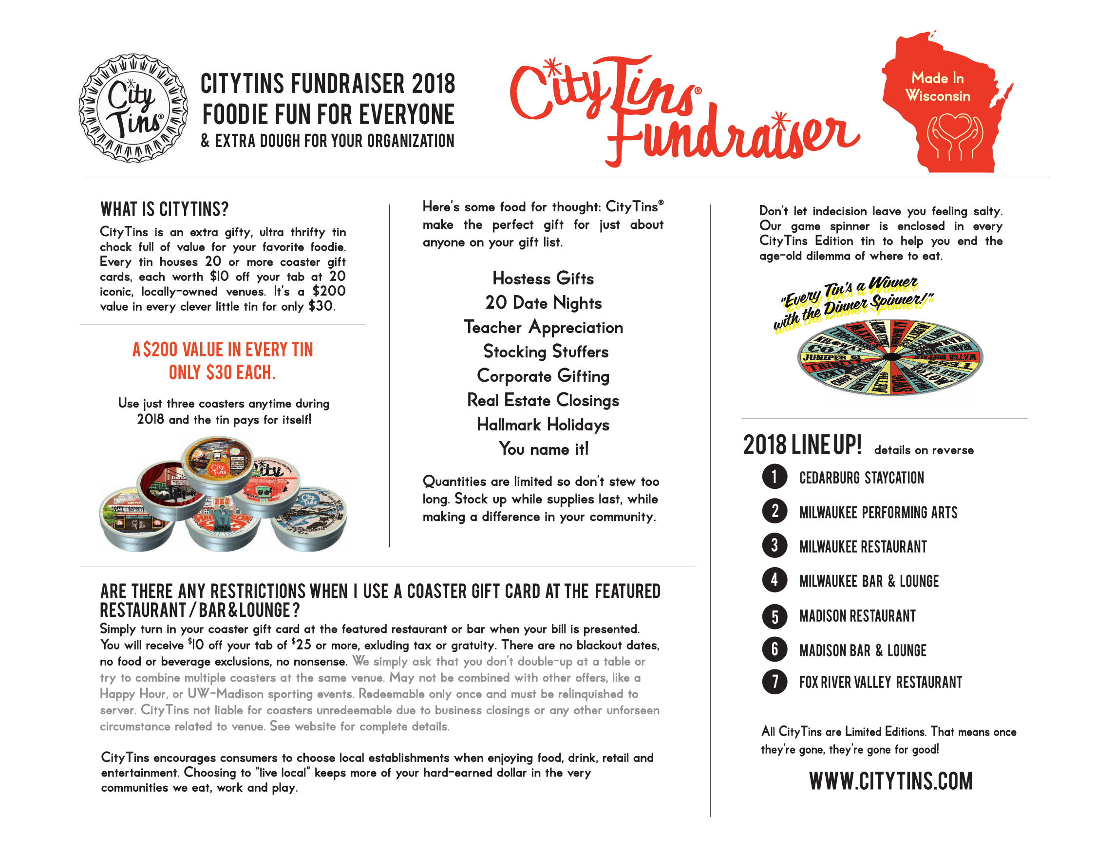 City Tins Fundraiser