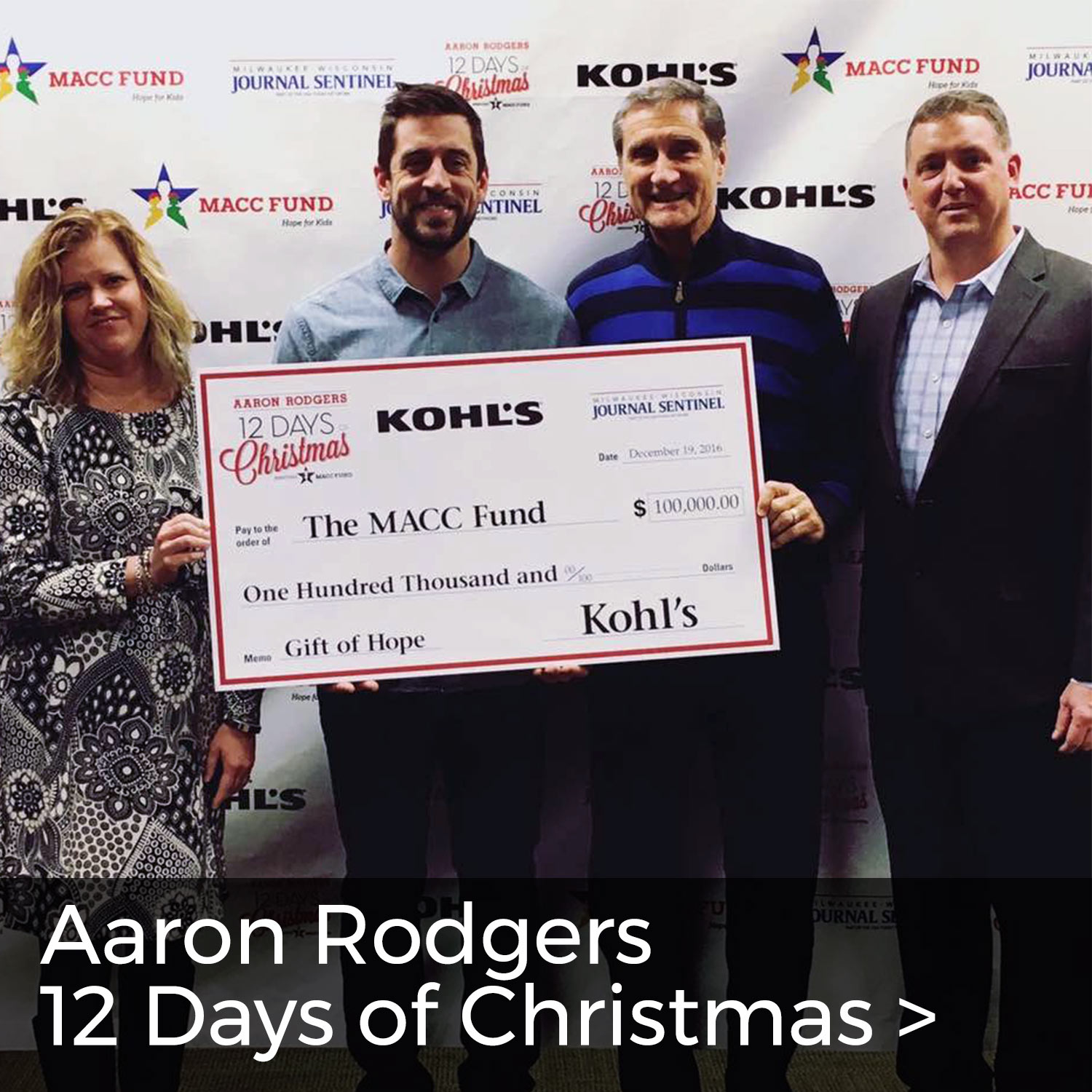 Aaron Rodgers - 12 Days Of Christmas